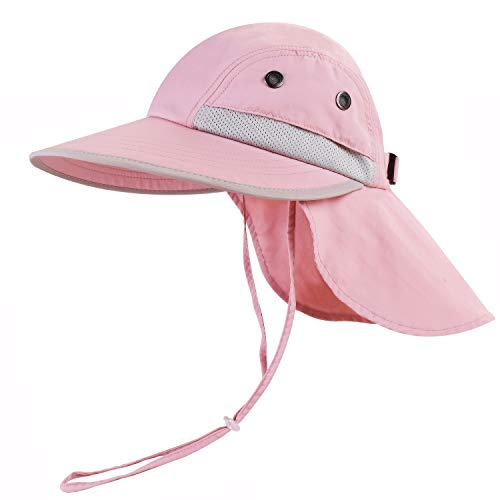 Toddler Sun Hat for Kids Baby Beach Sun Protection UPF 50 Boys Girls Fishing Hats Pink