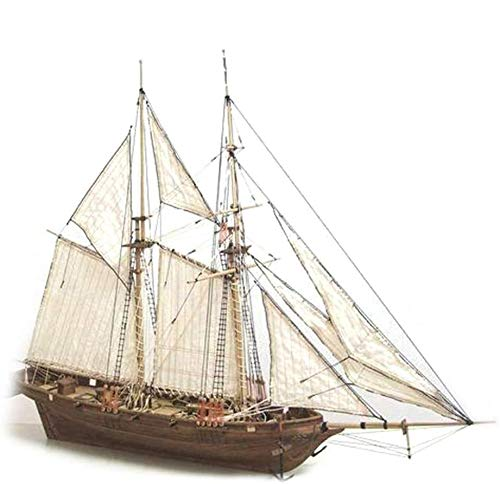 Halcon1840 Vela Ensamblada De Madera Modelo 1: 100 DIY Clásico Occidental Vela Ciencia Popularización Modelo Educativo Juguete Educativo Para 7-14 Años