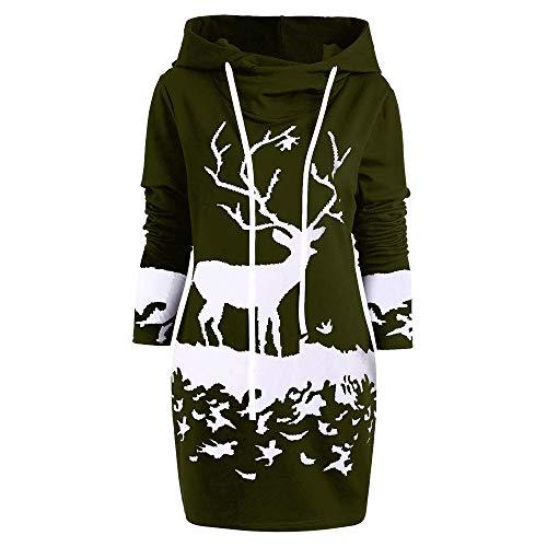 HEVÜY Mode Frauen Lange beiläufige Lange Ärmel Pullover Kleid Damen Winterkleider Kleid Strickkleider Langarm Mode Stricksweat Strickpullover Lose Sweatkleid Minikleid