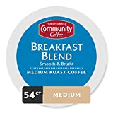 Community Coffee Breakfast Blend Medium Roast Single Serve K-Cup Compatible Coffee Pods, Box of 54 Pods