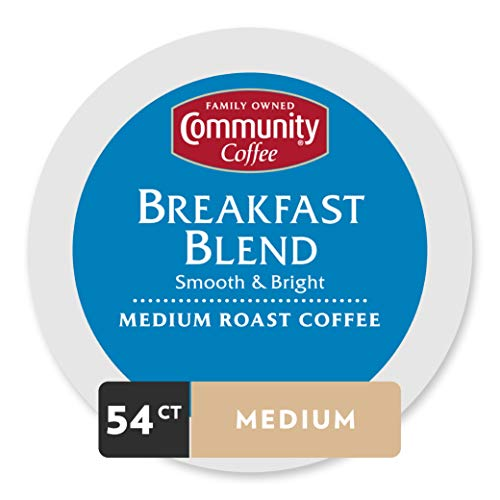 54 Pods, Community Coffee Medium Roast K-Cup Pods (Breakfast Blend) -$16.25(44% Off)