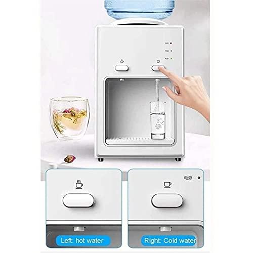 Mini dispensador de agua de escritorio caliente y frío Dispensador de agua eléctrica Encimera de encimera y calefacción vertical for oficina doméstica (Color : White)