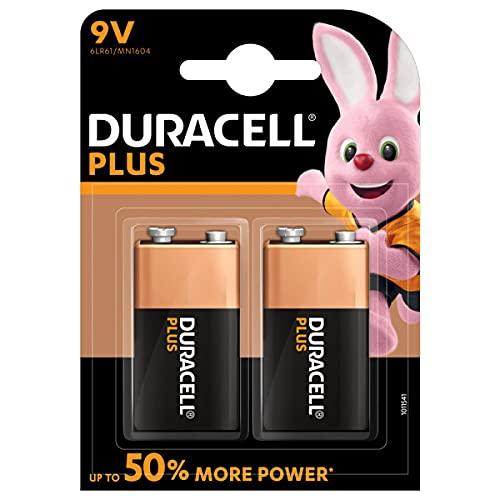 Oferta de Duracell - Plus 9V Pilas, paquete de 2