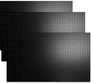有孔ボード カラー 1/3サイズ(4ミリ厚x横900ミリx縦600ミリ) UKB-600900-3S 穴径5ミリ穴ピッチ25ミリ 3枚入り (黒)