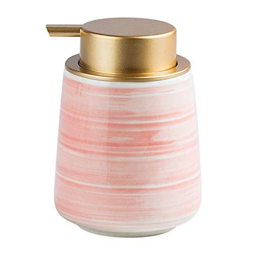 Dispensador de jabón para baño 14.5 OZ cerámica dispensador de jabón dispensador de jabón con Fácil de prensa de la bomba de oro for baño o la cocina Dispensador de jabón líquido para manos