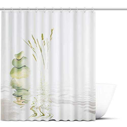 FITundDRY Duschvorhang 180x200 cm - Antischimmel und wasserabweisender Badezimmer Vorhang - Shower Curtain in einzigartigem Design für Ihre Badewanne - Inkl. 12x Befestigungsringe