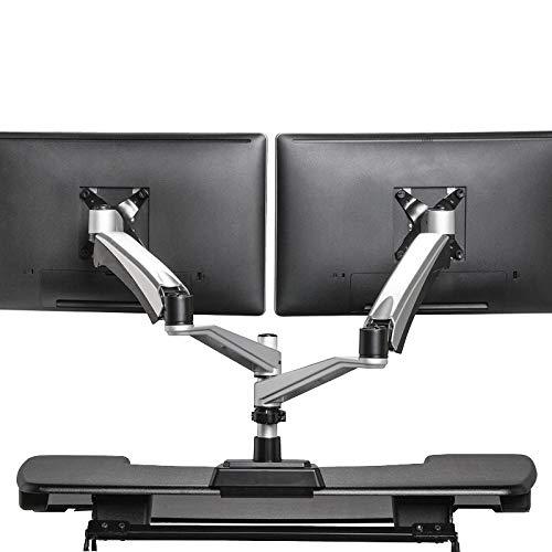 VARIDESK - Dual Monitor Arm - Full-Motion Spring w/ 360 Degree Articulation - Easy Height Adjustment