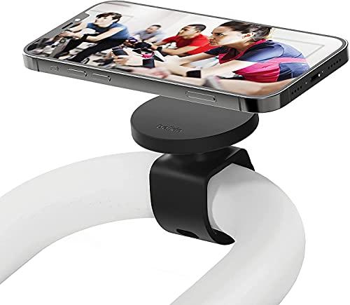Belkin - Soporte para Fitness con MagSafe (para Equipamiento de Gimnasio, Soporte de Montaje magnético, Cintas, Bicicletas de Spinning o elípticas, Serie iPhone 12), Color Negro