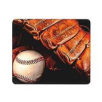 野球 黒 ボールマウスパッド25 * 30CMポリエステル布製 耐久性がありグリーンで環境に優しい精密シーミングマウスパッド