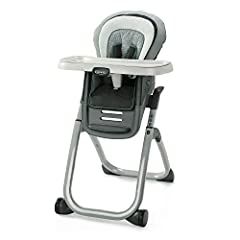 6 Growing Stages from Infant Highchair to Seating 2 Kids at Once Stage 1: Infant Highchair with 3 Position Recline provides the right position for baby's comfort Stage 2: Traditional Highchair with a machine washable seat pad Stage 3: Infant Booster ...