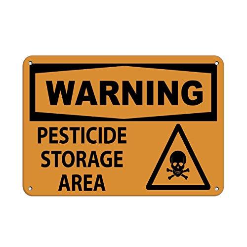 560 WENKLL Warning Pesticide Storage Area 8x12inch Pub Shed Bar Man Cave Home Bedroom Office Kitchen Gift Metal Sign