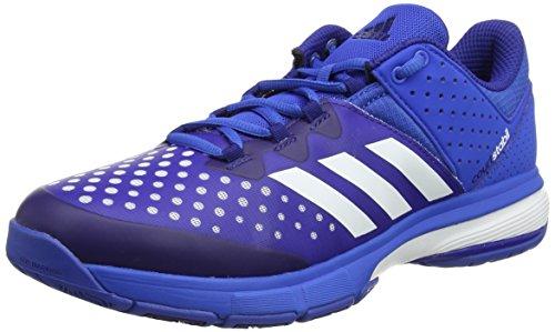 adidas Herren Court Stabil Handballschuhe, Mehrfarbig (Blue/FTWR White/Mystery Ink F17), 42 2/3 EU