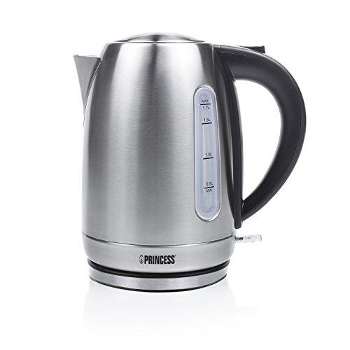 Princess 236018 – Hervidor de agua eléctrico, Volumen 1.7 litros, diseño sin...