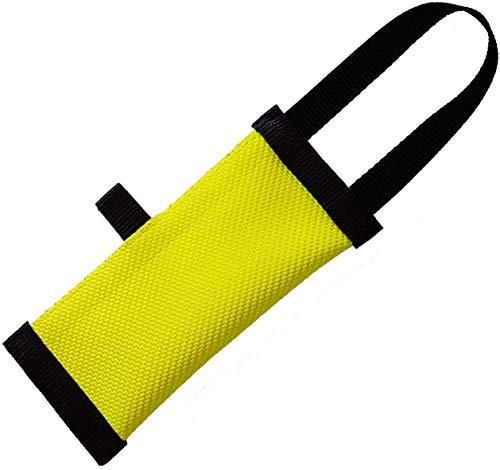 Dog24 Hunde-Futterdummy/Trainingsdummy/Feuerwehrschlauch/Apportier-Tasche für Leckerlies und Hundesnacks/Futterbeutel/Leckerlie-Beutel/schwimmfähig/Preydummy/Snack Dummy (XS (15cm))