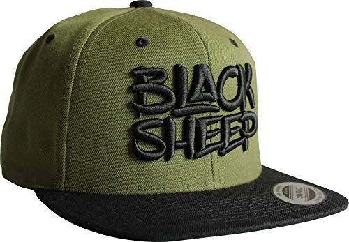 Gorra de béisbol: Black Sheep - Oveja Negra - Flexfit Classic Snapback Basecap con bordado 3D - Cap - Regalo-s hombre y mujer - Gorro - Tapa - Hip Hop Rap - Gángster (Verde)