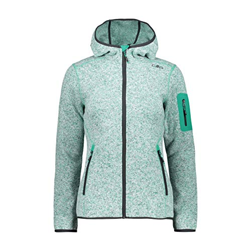 CMP Damen Strick Fleece Jacke 3h19826,grün(Mint),40
