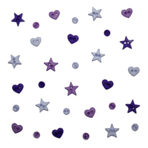 Dress It Up 3253 Micro Shapes Embellishment for Crafts, Mini, Purple Mix by Dress It Up