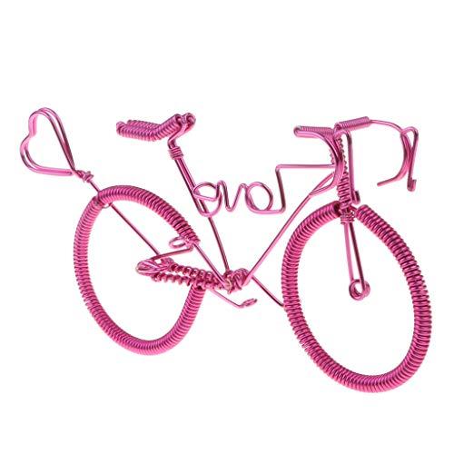 Homyl Gioco Bici Ciclismo Artigianato Miniatura Arredamento Vetrina Tavolino Alluminio Regalo - Rosa