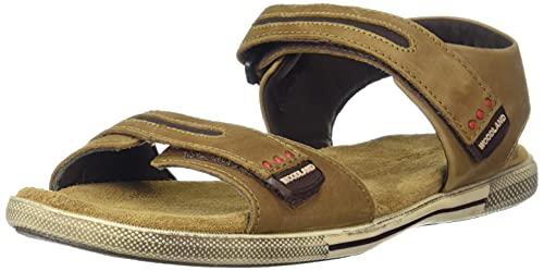 Woodland Men's Camel Leather Sandal-6 UK/India (40 EU) (OGD 2688117)