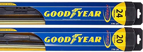 Hybrid - Windshield Wiper Blade Bundle - 3 Items: Driver & Passenger Blades & Reminder Sticker fits 2007-2011 Toyota Camry