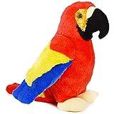 VIAHART Papaya The Parrot | 12 Inch Stuffed Animal Plush Macaw Bird | by Tiger Tale Toys