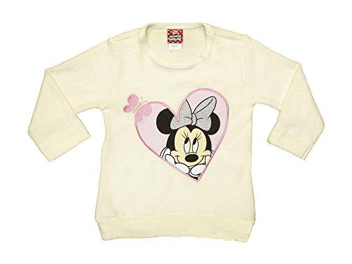 Disney Baby Minnie Mouse Mädchen Pullover in Beige oder in Grau in Größe 80 86 92 98 104 110 116 122 Baumwolle, Langarm Pulli, Oberteil Farbe Modell 1, Größe 80