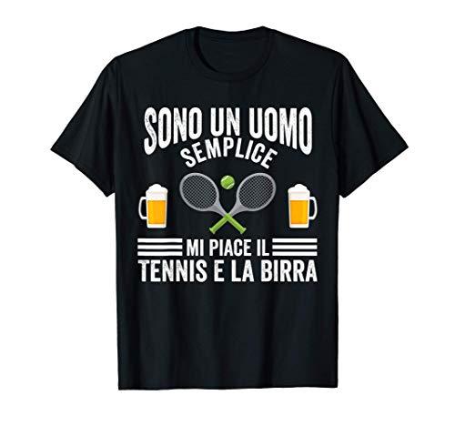 Uomo Tennis Birra Allenatore Di Tennis Maglietta