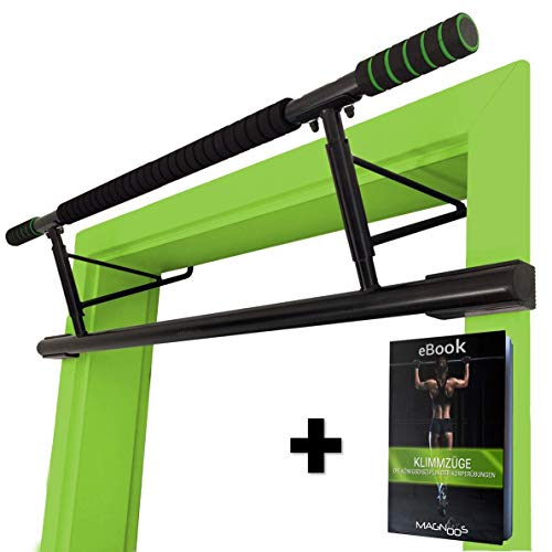 Magnoos Barre de Traction Matador | Premium Barres de Musculation pour la Porte | Amovible Simple | sans Vis ou Fixation | Fitness, Gym, Sportive, sur Pied, Exercise | Rembourrage Antidrapant