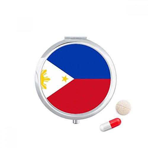 DIYthinker Filipijnen Nationale Vlag Azië Land Reizen Pocket Pill case Medicine Drug Storage Box Dispenser Spiegel Gift