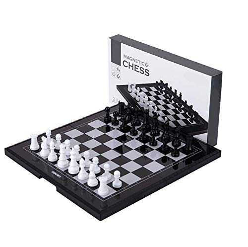Cxcdxd Juego de ajedrez Internacional Juego de ajedrez Plegable Tablero de ajedrez Piezas magnéticas Juegos de Mesa de Entretenimiento para niños Regalos