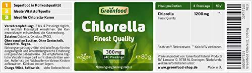 Greenfood Chlorella, 300 mg, 240 Presslinge, ohne künstliche Zusätze - 2