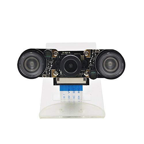 8Eninise para Raspberry Pi Modelo B + Módulo de cámara 5Mp Cámara Web Mini cámara Cámara de 5Mp Negro