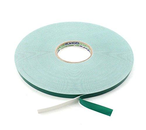 BONUS Eurotech 2BF42.10.0012/010A# Doppelseitiges Schaumstoffklebeband, Acrylklebstoff, Geschlossenzelliger Polyethylen, Länge 10 m x Breite 12 mm x Gesamtdicke 0,8 mm, Weiß