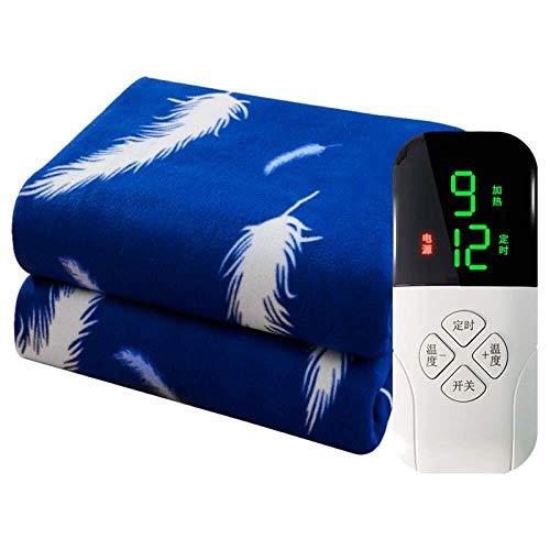HFS elektrische verwarmingsdeken, super grote zachte deken, grote thermodeken, met timer, 9 soorten verwarming, 180 x 90 cm