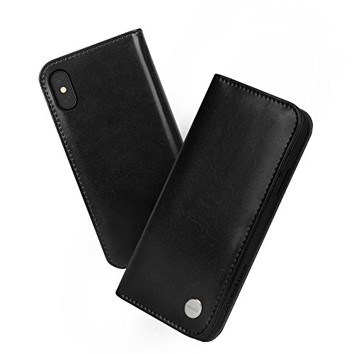 Moshi Overture Wallet Case for iPhone Xs/iPhone X (Charcoal Black)