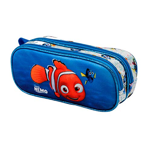 KARACTERMANIA Buscando a Nemo-Estuche Portatodo 3D Doble, Multicolor
