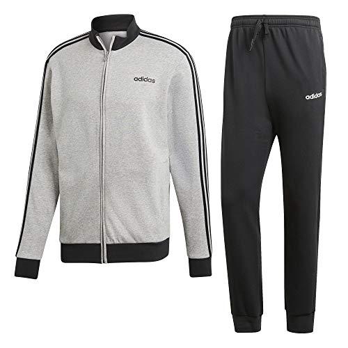 adidas Herren Cotton Relax Trainingsanzug, Medium Grey Heather Black, 2XL
