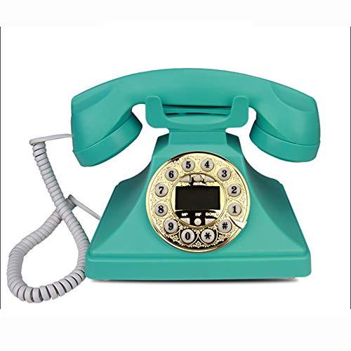 Cajolg Teléfonos de marcación giratoria, teléfonos Retro creativos, teléfono de Escritorio de línea Fija Retro de Estilo Antiguo para Oficina en casa,B