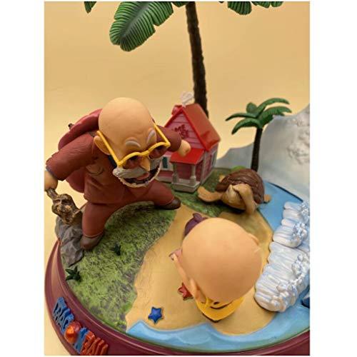 Luckly77 Goku Dragon Ball Figura de acción de una pieza exquisita decoración de paisaje adornos de resina para niños
