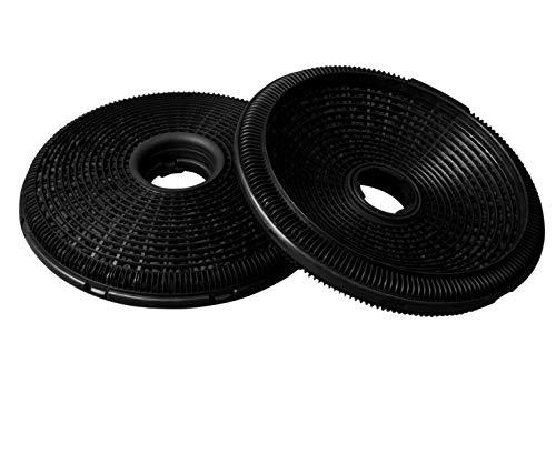 Filtros de carbón de repuesto para 902979370-1/9029793701 E3CFP19, también para Bosch/Siemens 00796390/796390 DHZ5276, 189 mm de diámetro para campana extractora