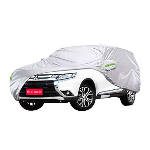 Couverture de voiture Mitsubishi Outlander Couverture de voiture SUV épais Oxford Tissu Protection contre le soleil Couverture chaude anti-pluie Housse de voiture (taille : 2015)