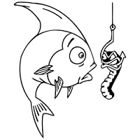 拓実-たくみ 琢磨 わたる 12.7 *約15.5cm釣りクラブ魚おかしいカーステッカービニールステッカークリエイティブ漫画の車のステッカー (Color Name : Black)