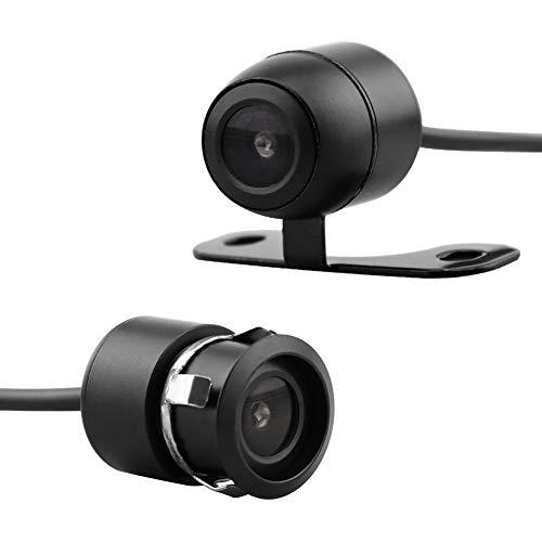 MiCarBa Auto-Backup-Kamera 2-in-1 18,5 mm Unterputz Rückfahrkamera & Halterung HD Farb-CMOS Auto Rückfahrkamera Wasserdicht vorne CAM (CL1103D)