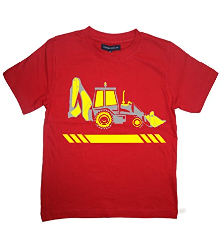 Tee Shirt TRACTOPELLE' 3-4 Ans Rouge T-Shirt Enfant