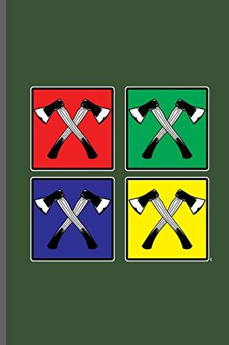 Retro Pop Art Axe: Lumber Logger notebooks gift (6