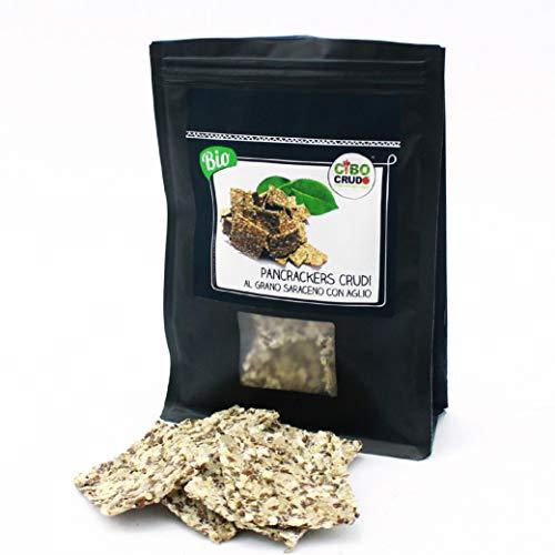 CiboCrudo PanCrackers di Grano Saraceno con Pomodorini Secchi Bio, Privi di Glutine per Natura, Snack Gustoso per Spuntini ed Apertivi, Adatto ai Celiaci – 125 gr