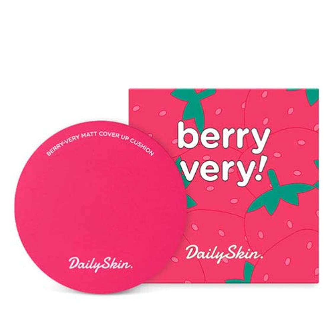 ミント請求書うなるDaily Skin Berry Very Matt Cover Up Cushion (No.23 Berry Natural) ]デイリースキン いちごマット カバー アップ クッション [並行輸入品]