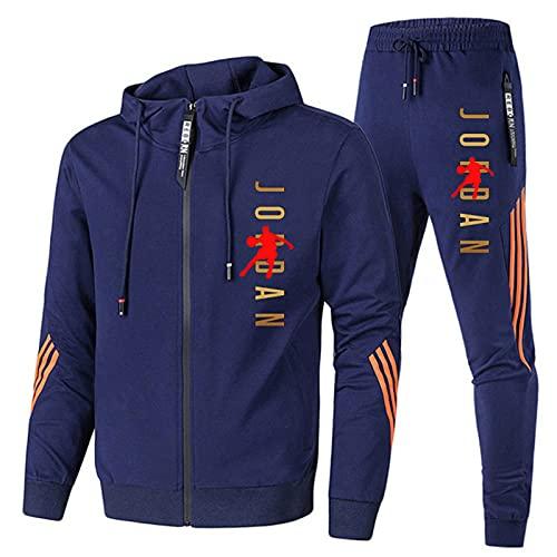 Chándal para hombre, chaqueta de 2 piezas, pantalones deportivos para correr con...