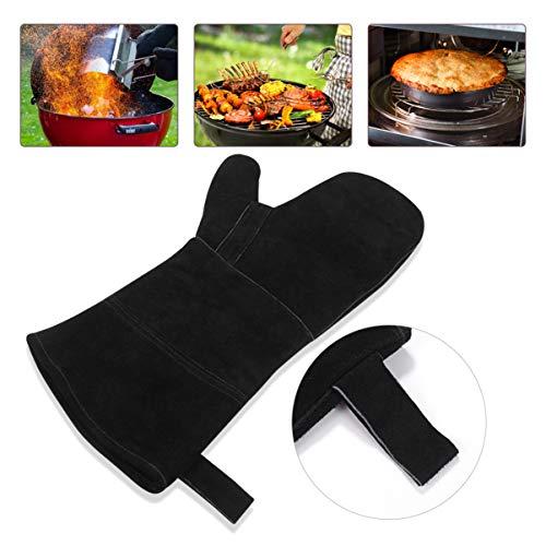 DOITOOL Bbq Grill Premium Barbecuehandschoenen 15 Cm Hittebestendige Bakhandschoenen Isolatiewarmte Ovenwanten Grillhandschoenen Voor Bbq Oven Grill Open Haard Bakken Kachel