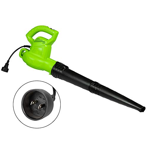 Turbine Leaf Blower Electric Corded Powerful 7 AMP - Corded Weed Eater Leaf Blower Black Nozzle 130 MPH Max Air 2 Speed Lawn Blower for Women Garden Patio Lawn Backyard Dust Snow